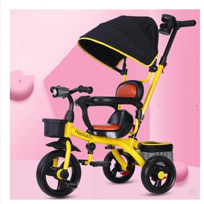 Tricycle pour enfants vélo 1-3-5 ans bébé poussette 2-6 ans bébé poussette vélo