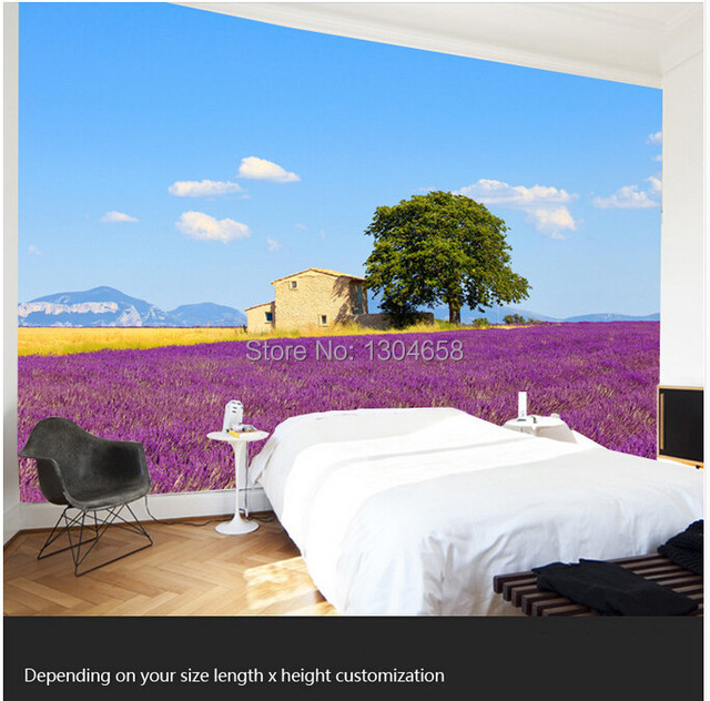 Free shipping custom modern 3D murals Lavender wave comic living ...