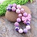 Free Shipping 3pcs/lot Baby Chunky Beads Necklace Kids Necklace Toddler Bubblegum Necklace Kids Jewelry