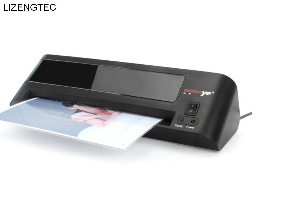 Free Shipping Lizengtec New Professional Office Hot And Cold Fast Warm-up Roll Laminator Machine For A4 Paper Document Photo Laminator