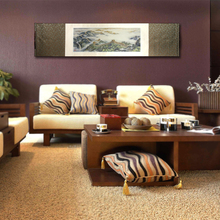 Silk brocade Painting of the Great Wall Chinese style business gift Ode to the Great Wall paint office restroom home decoration the great fashion designers at home