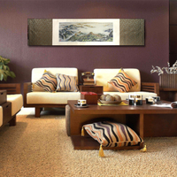 Tangfoo Silk Brocade Scroll Painting Art Printing Great Wall Picture Business Collection Gift Office Hotel Home Wall Decor