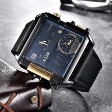 Reloj cuadrado para hombre, LED, resistente al agua, zona horaria múltiple, marca de lujo, deportivo, 6,11