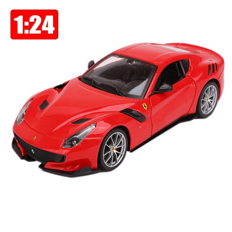 Bburago 1:24 сплав автомобиля статическая модель спортивные автомобили F12 TDF супер игрушки дети мальчик подарок на Новый год