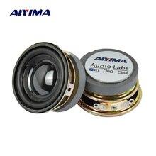 AIYIMA 2 шт. 1,5 дюймов аудио портативный динамик s 4Ohm 3 Вт полный спектр динамик DIY стерео домашний кинотеатр НЧ динамик громкий динамик