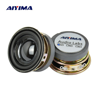 AIYIMA 2Pcs 1.5Inch Audio Portable Speakers 4Ohm 3W Full Range Speaker DIY Stereo Home Theater Woofer Loudspeaker 2 pcs 35mm 75mm audio speaker woofer loudspeaker dome pp dust cap cone cover