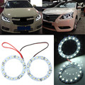 Universal Low Power Consumption 1 Pair 60mm 12V White 15 LEDs SMD Ring Angel Eyes Light Decorative Lamp