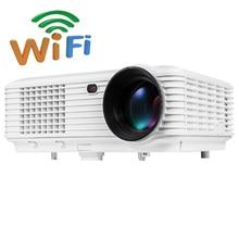 Android 4.4 Bluetooth MIRCAST Airplay WIFI Smart LED LCD de Video TV Proyector proyector beamer 5000 lúmenes para el cine en casa mejor
