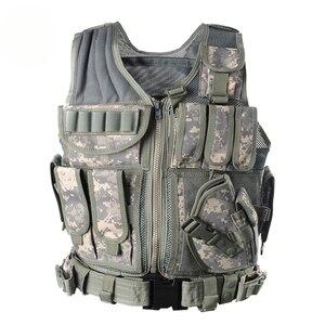 Image 2 - Zuoxiangru פריקה טקטי גברים Combat Vest טקטי צבא צבאי אוהדי הסוואה אפוד גוף Cs ג ונגל ציוד