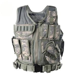 Image 2 - Zuoxiangru Unloading Tactical Men Combat Vest Tactical Army Military Fans Camouflage Vest Body Cs Jungle Equipment