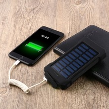 30000 mah Waterproof and Portable Solar Power Bank for Outdoor
