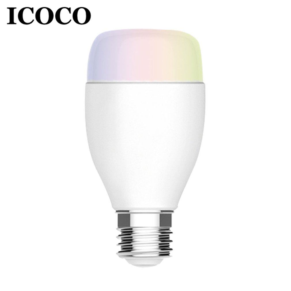 ICOCO Super Bright Wifi E27 Smart Bulb with PP Remote Control RGBW Timing Light Bulb Sma ...