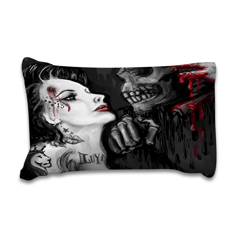 Wongsbedding Skull And Beauty Duvet Cover Bedding Set Bed Sheet Twin Full Queen King Size 3PCS in Bedding Sets from Home Garden