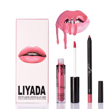 2017 New Liquid Matte Lipstick Lips Pencil Makeup Lasting Waterproof Long Lasting Moisturizer Lip Gloss Cosmetics Lip Kit Batom(China)