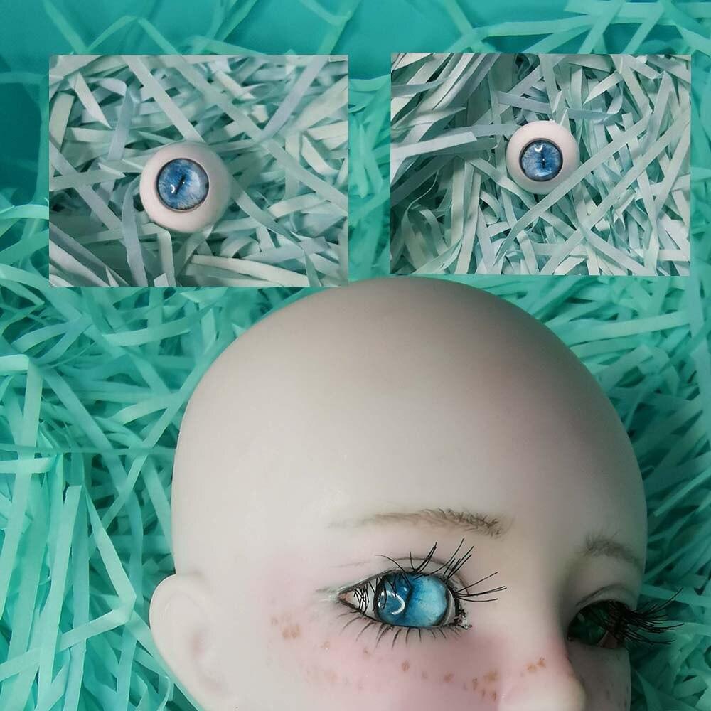 1 Pair Blue Sky Cat Eyeball Beast  Bjd Eyes Sd  Dolls For 1/3 1/4 1/6 12mm 14mm 16mm 18mm 20mm 22cm Print Acrylic Plastic IEYEs