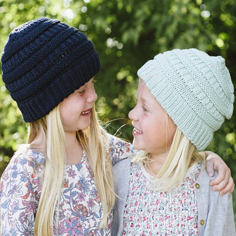 79e66e03d26 CC Beanies Winter Hats   Caps Women Knitted Wool Cap Kids Boy Girls Casual  Unisex Solid Color Hip-Hop Skullies Beanie Warm Hat