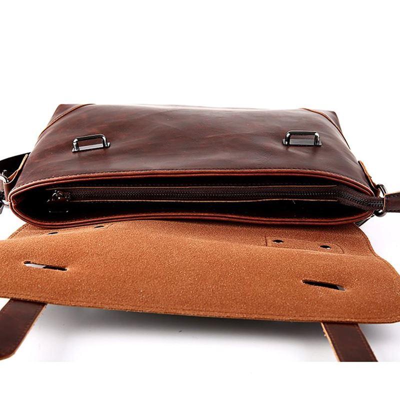 GUMST Crazy Horse Leather Men's Briefcase Messenger Bag for Gentlemen Document case Portfolio Office Bag 6