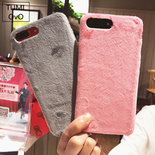 Luxury Villus Fur Case For iPhone 6 Cover Phone Bag Hard Smooth Plush For iPhone 7 6 6S Plus X 8 Plus Cases Coque Funda Etui
