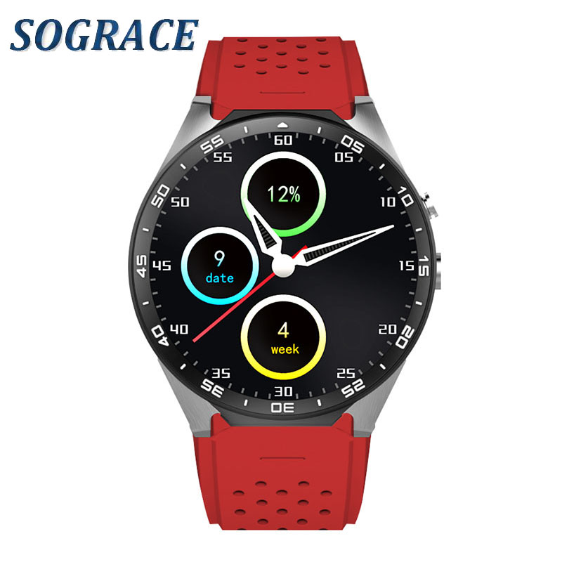 Sograce KW88 Bluetooth Smart Watch Sports Health Smartwatch Heart Rate Monitor for Xiaomi Huawei Samsung Android ISO Phone round bluetooth smart watch classic health metal smartwatch with heart rate monitor for android iso phone remote camera clock