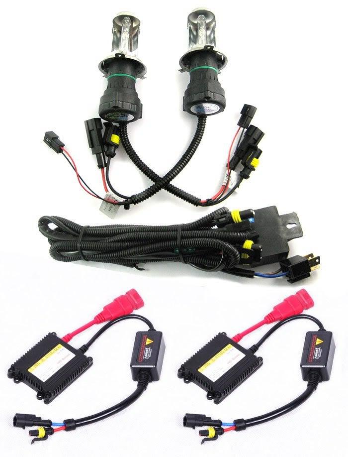 ФОТО 12V 35W New H4-3 12000K Hi/Low Hid Xenon Bulb Ballast Conversion Kit Wholesale & Retail [C155]