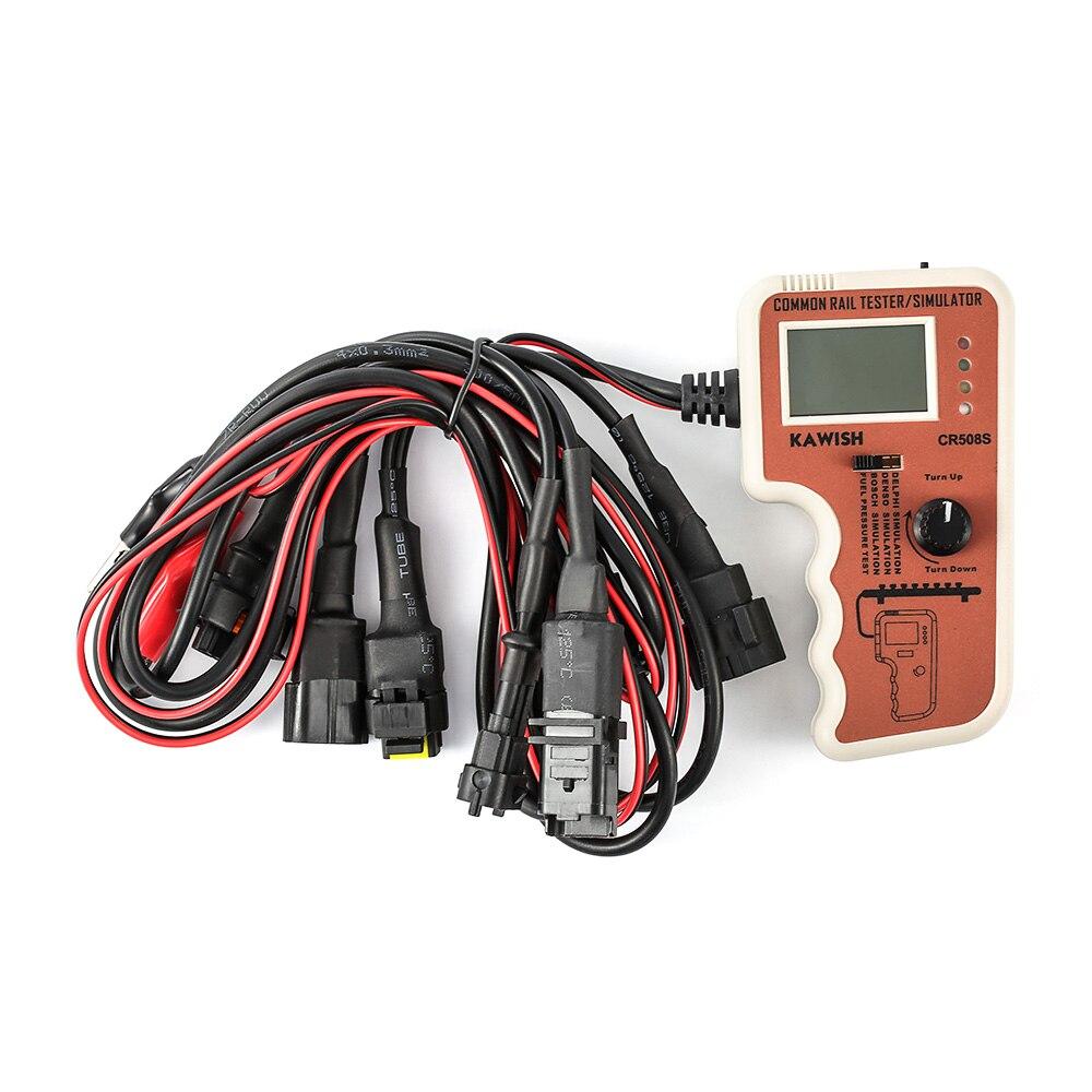 Testeur de pression à rampe commune pour kts bosch pour delphi Diesel testeur de pression à rampe commune et simulateur outil de Test de capteur Denso