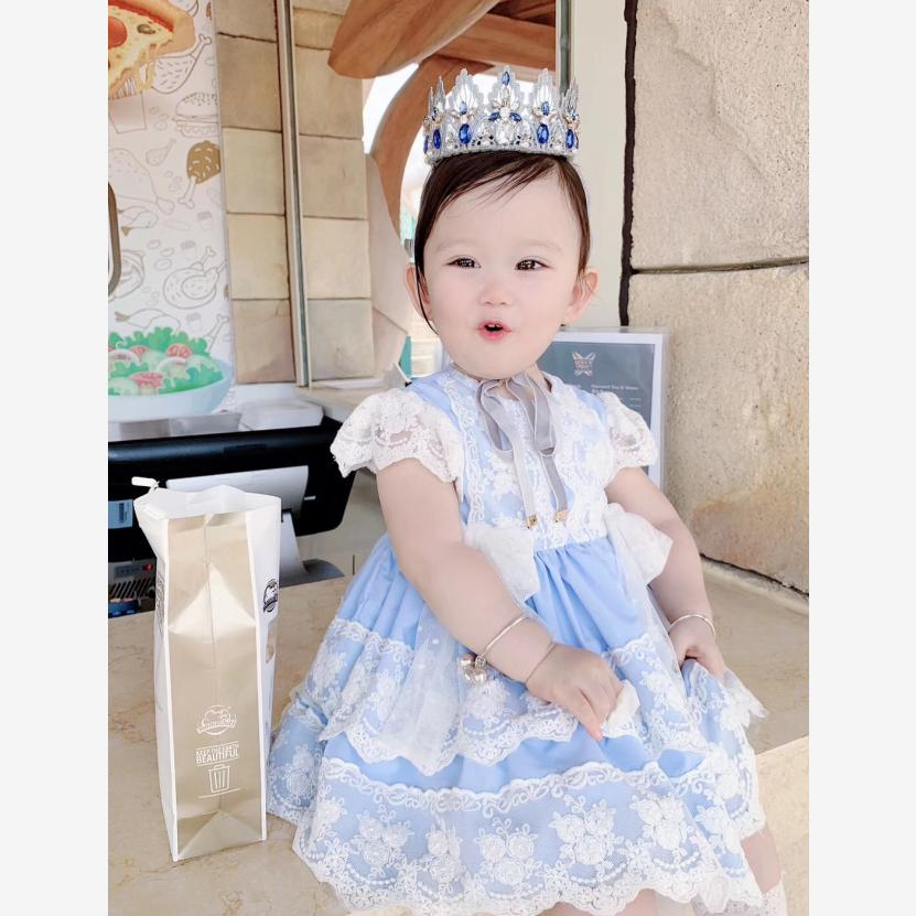 2019 Summer New Spanish Lolita Dress For Girl Short Sleeve Princess Gown Birthday Party Dress Modis Kids Clothes Vestidos Y15122019 Summer New Spanish Lolita Dress For Girl Short Sleeve Princess Gown Birthday Party Dress Modis Kids Clothes Vestidos Y1512