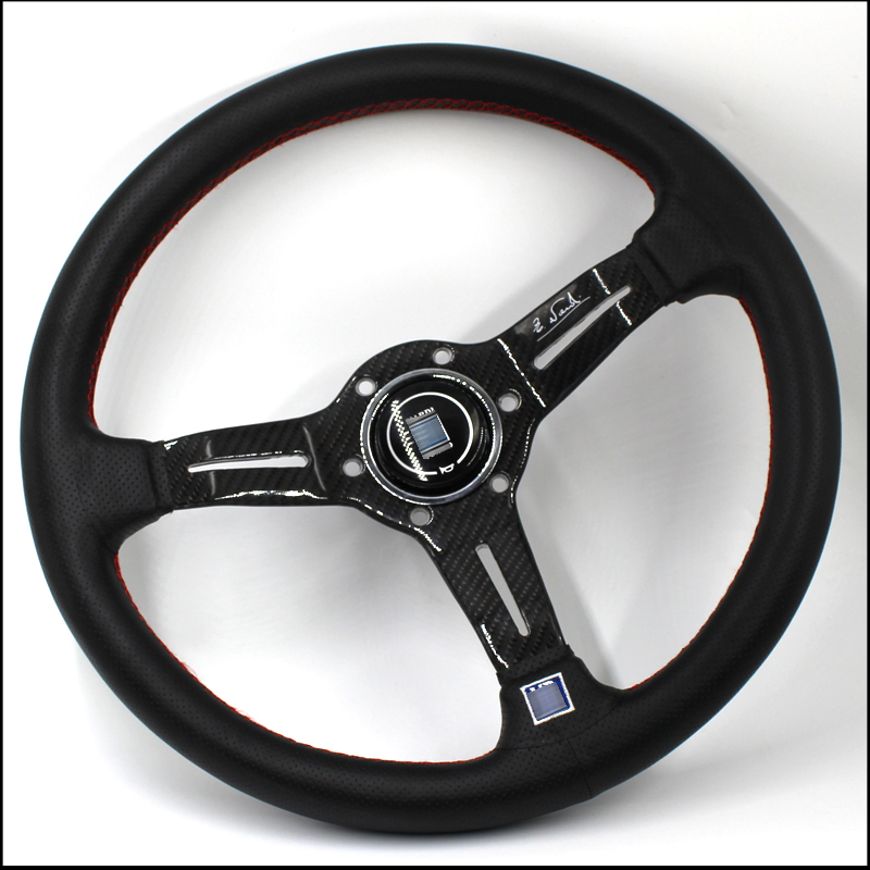 Universal Carbon fiber Car Modified steering wheel 350MM 14 Inch Racing Car   Modification ting Steering Wheel JDM