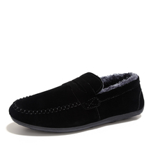 2016 winter Mens keep warm Casual Shoes Fashion Leather Men Loafers Moccasins Slip on Men's Flats plush keep warm driving shoes