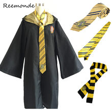 Harri Potter Robes Cloaks Ties Scarfs Cosplay Costumes Gryffindor Ravenclaw Clothing Mantle Hufflepuff Capes Men Women Kids(China)