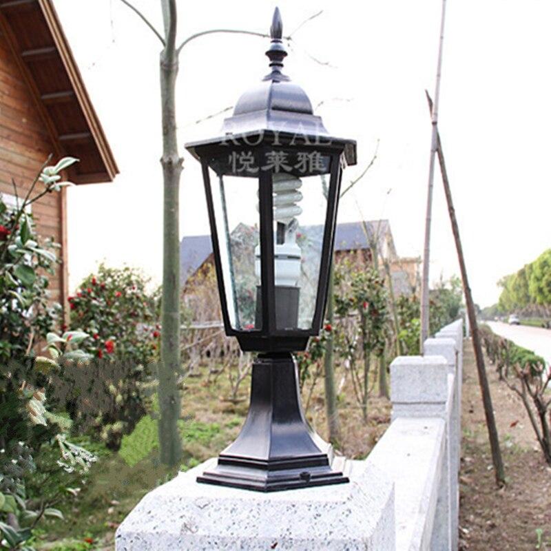 columnas de aluminio porche