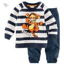 Г. Новая Осенняя детская пижама, топы, костюм, одежда Детский мультяшный Тигр для мальчиков и девочек, комплекты повседневной одежды, детская Домашняя одежда с героями мультфильмов
