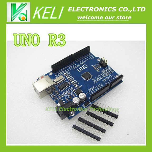 Free shipping 1pcs  UNO R3 MEGA328P CH340G  Compatible NO USB CABLE hight quality