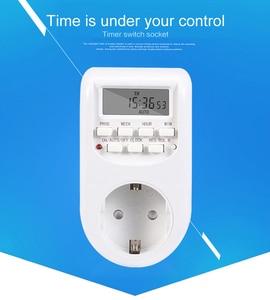 New Kebidu Digital Timer Switch EU Plug Kitchen Timer Outlet 220V 50HZ 10A 7 Day 12/24 Hour Programmable Timing Socket Wholesale