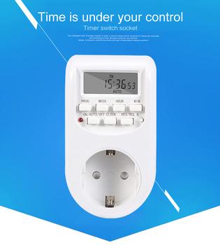 Nowy Kebidu cyfrowy włącznik czasowy ue podłącz kuchnia timera wylot 220 V 50 HZ 10A 7 dni 12 24 godzin programowalny gniazdo rozrządu sprzedaż hurtowa tanie i dobre opinie Wtyczki elektrycznej Bez uziemienia Brak Timer Switch Domy ogólnego przeznaczenia Bundle1 SONOFF 220V-240V
