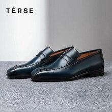 TERSE_ Новое поступление; обувь из натуральной кожи; мужские деловые модные лоферы; 3 цвета; функциональная кожаная обувь; логотип на заказ; 1516-1