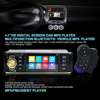 4 1 Inch In Dash Car Bluetooth Stereo Aux Input USB SD FM MP5 BT