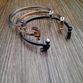 Hot fashion men's double metal hammer chain bracelet jewelry style restoring ancient ways, free shippingbracelet men