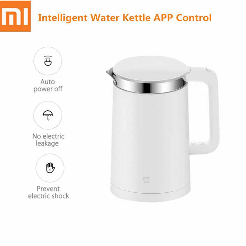 1.5L Xiao mi mi inteligentny elektryczny czajnik ze stali nierdzewnej automatyczne wyłączanie 12h kontrola aplikacji temperatury inteligentny czajnik wodny 1800W