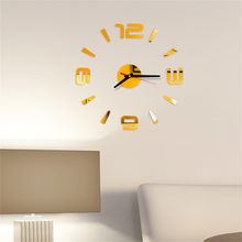 3D DIY Roman Numbers Acrylic Mirror Wall Sticker Clock Home Decor Mural Decals Large Decorative Wall Clocks Watch Wall Gift #X(China)