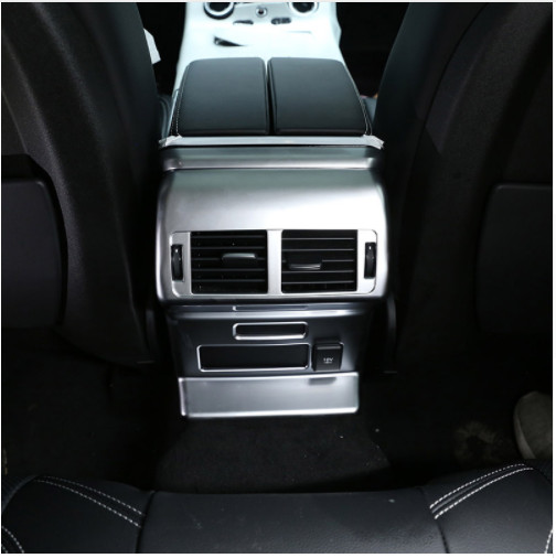 Chrome Rear Row Air Conditioning Vent Outlet Frame Cover For Land Rover Range Rover Velar 2017 Styling Car Accessories in Car Stickers from Automobiles Motorcycles