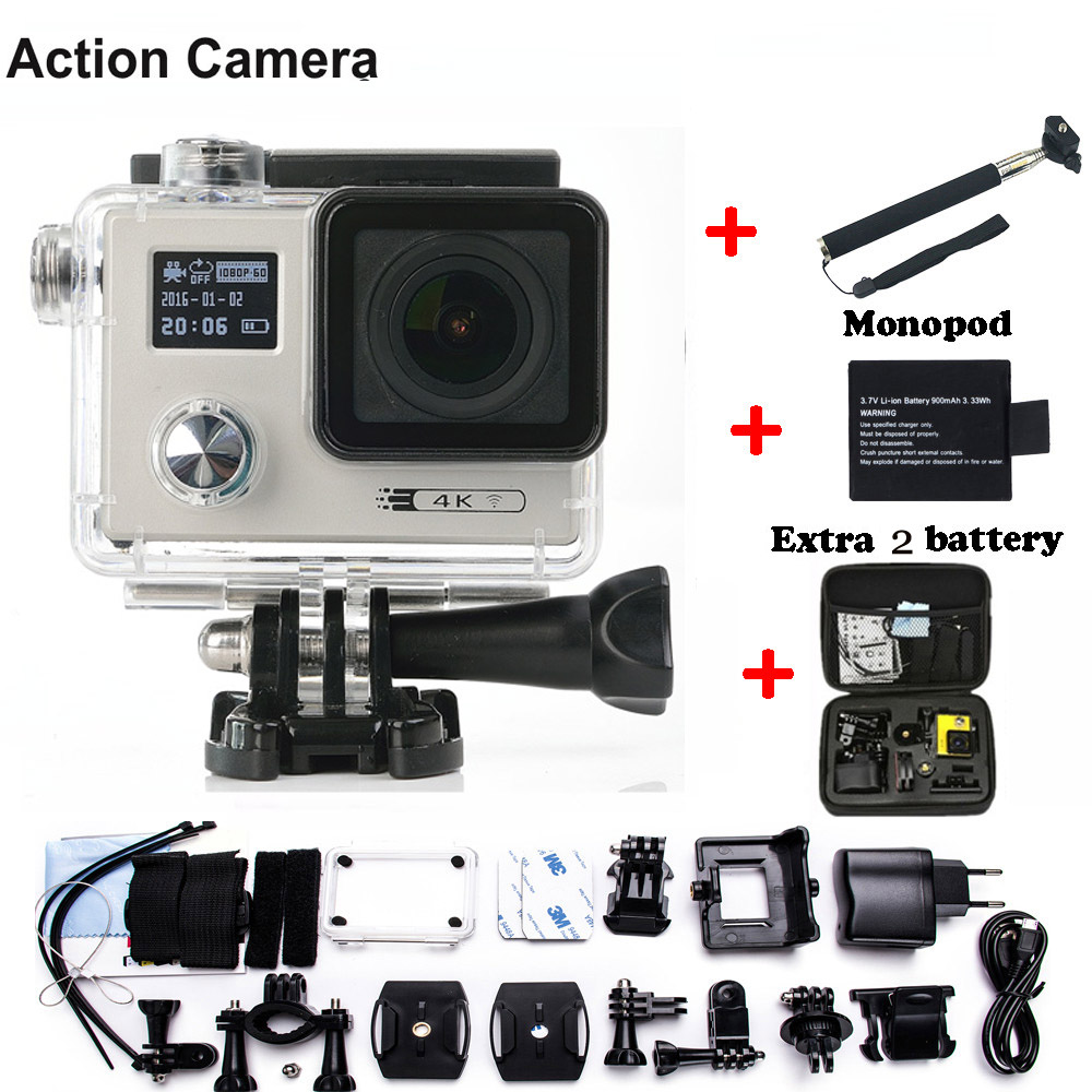 Action camera F88 Ultra HD 4K 24FPS WiFi 1080P/60fps IMX078 170D lens Helmet Driving Cam go waterproof pro camera