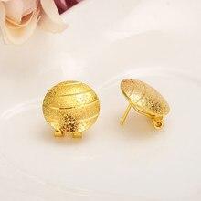 73bfde0db06834 Gold Africa Girls lovely Round clip stud Earrings For Kids Children Aros  women girlsboy jewelry african Christmas gift