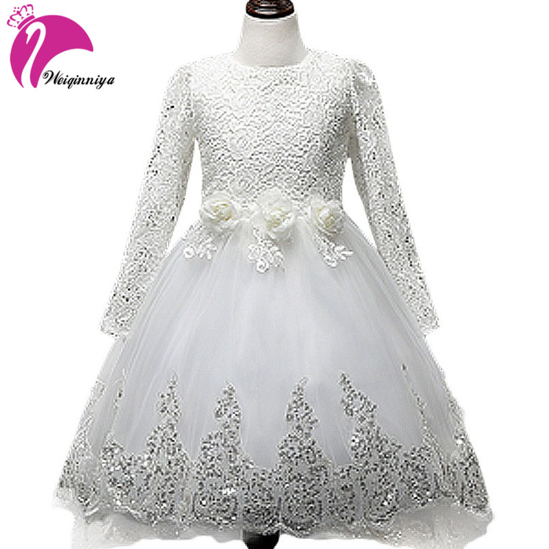 Baby Girl Long-Sleeved Dresses Pompom Fashion Design Baby Princess Dress  Party & Wedding Lace Butterfly Children Dresses fashion jacquard spring and autumn long sleeved lace print dress princess party baby girl dresses girl clothes 3 7 yrs