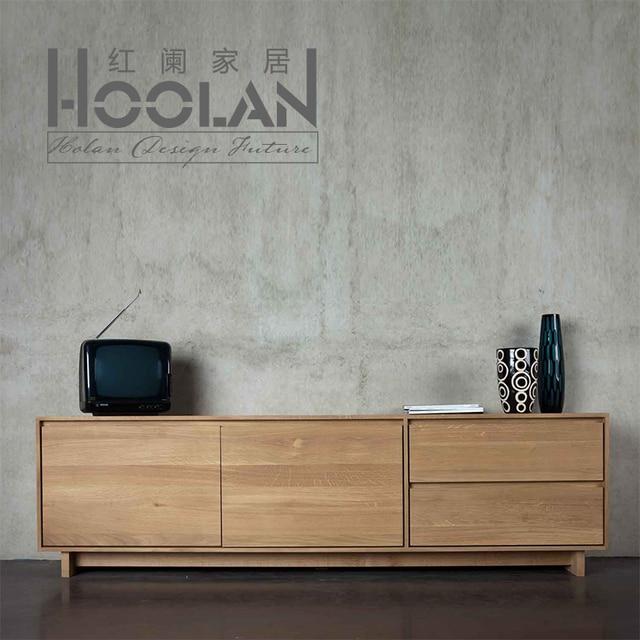 Nordic Ikea Modern Minimalist Wood Drawers American Oak Sideboard Lockers Ash Furniture