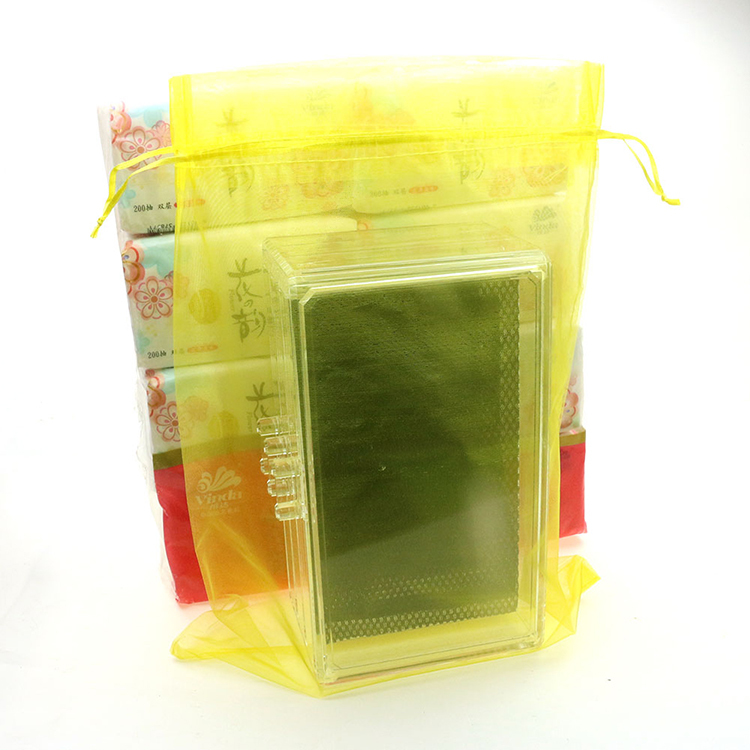 30x40cm Yellow Organza Jewelry Bags Gift Bags Logo Organza Sachet Bags Customize Packaging Weeding Gift 100pcs/lot Wholesale