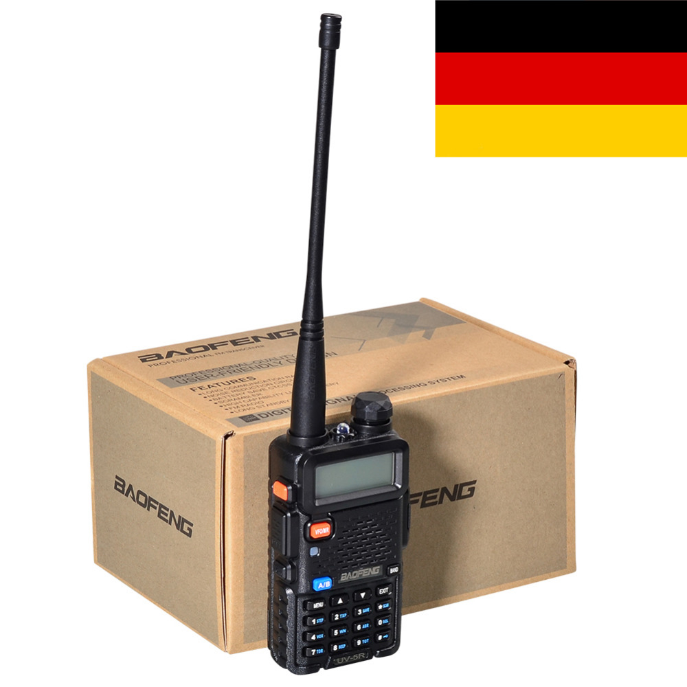 Newest Black BAOFENG UV-5R Walkie Talkie VHF/UHF 136-174 / 400-520MHz Two Way Radio EU FR PL RU UK STOCK