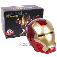 Iron Man Adult Motorcycle Helmet Cosplay Mask Touch Sensing Mask with LED Light Collectible Model Toy 1:1 High Quality