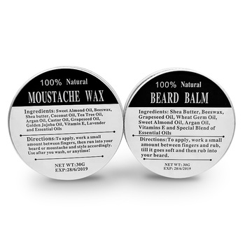 Preboily BEST Beard Mustache Wax 100% Natural Grooming Wax for Moustache Grooming and Beard Growing Salve for Men Beard Oil