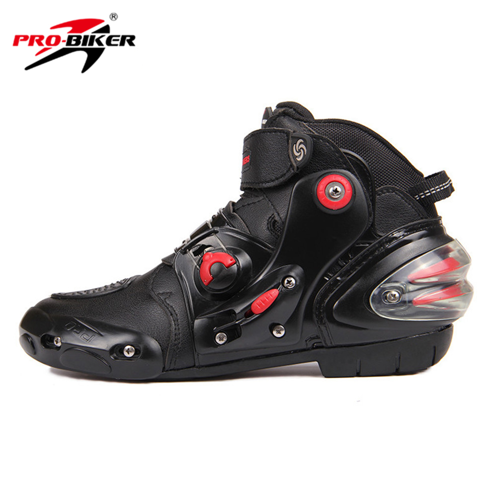 HOT! PRO-BIKER SPEED BIKERS Black Men Moto Shoes Motorcycle Boots Moto Motocross Boots Breathable Racing Motorbike Riding Boots