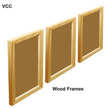 3Pcs/Set Wooden Frame Pictures Photo Frames A4 20X30 30X40cm Plexiglass Include Poster Frame For Wall Hanging Certificate Frame(China)